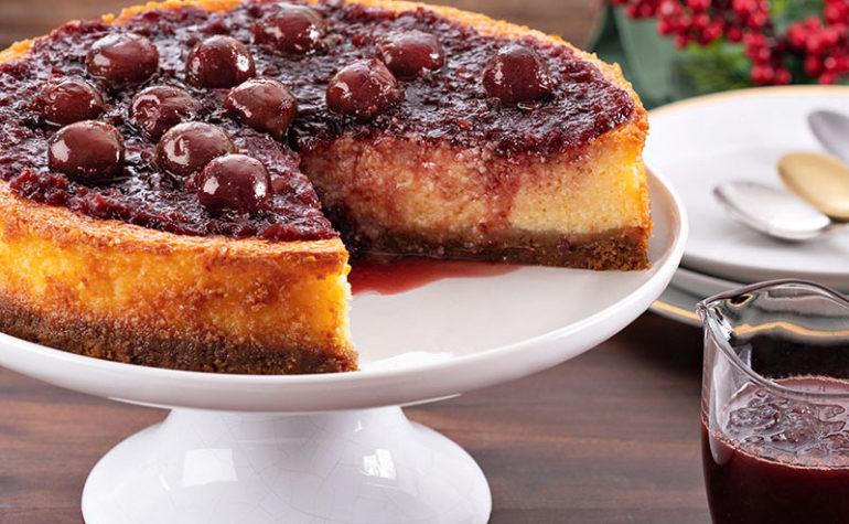 Cheesecake de Cerejas ao vinho do porto