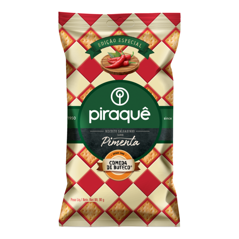 Pepper flavored salt biscuit